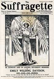 Suffragette, Emily Wilding Davison memorial issue, 13 June 1913, of the newspaper edited by Christobel Pankhurst This picture is the copyright of the Lordprice Collection