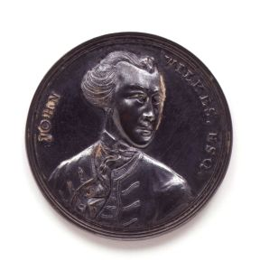 John Wilkes medal by unknown artist, 1768. (C) National Portrait Gallery, London, NPG 1702