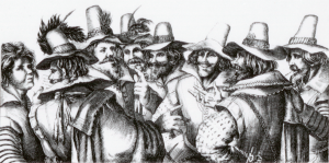An engraving of the principal conspirators of the Gun Powder Plot, (C) Palace of Westminster (WOA 1348)