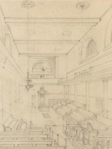 R. W. Billings, 'The Temporary House of Commons as fitted up in 1835', (c) Palace of Westminster, WOA 15.