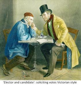 Victorian electoral print of an elector and candidate