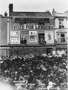 After the South Molton election of 1910, via http://sophialambert.com/familyhistory/CHAPTER8.htm