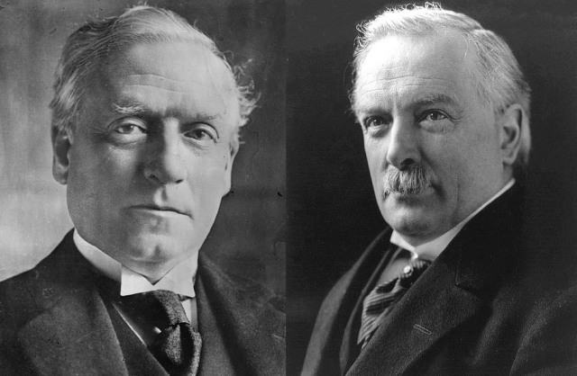 Herbert Asquith and David Lloyd George