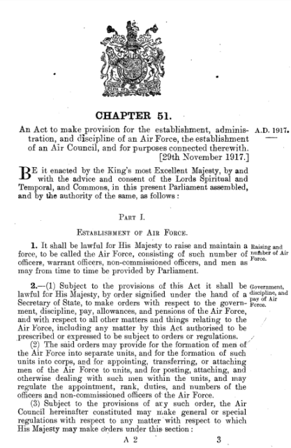 Air Force Act 1917