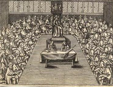 Parliament in 1643, from An Exact Collection of All Remonstrances