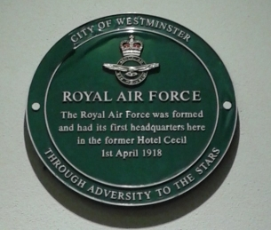 RAF plaque