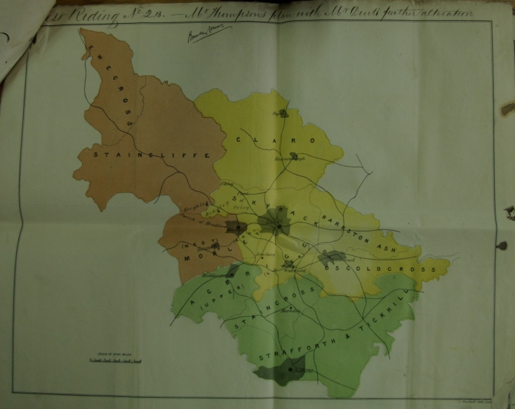One of several proposals presented to the commissioners for the division of the Wast Riding of Yorkshire