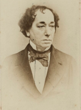 Benjamin Disraeli, carte-de-visite (early 1860s) (c) NPG