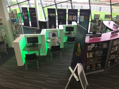 exhibition at Newcastle Library