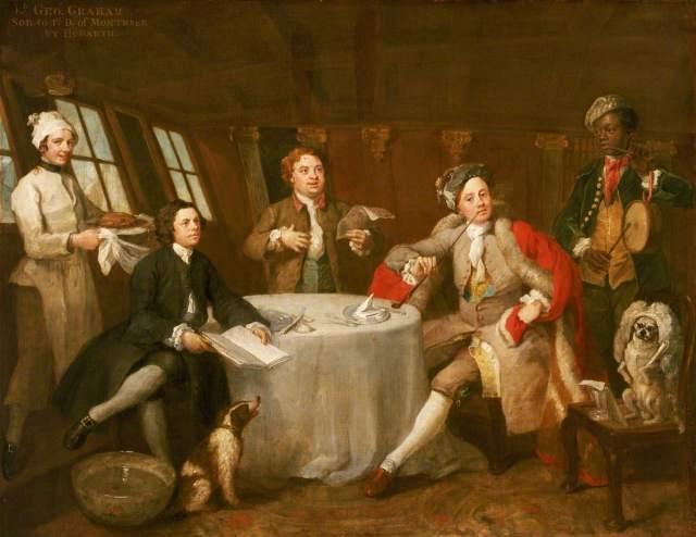 Hogarth, William, 1697-1764; Captain Lord George Graham (1715-1747), in His Cabin