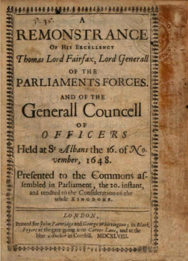 Remonstrance 1648
