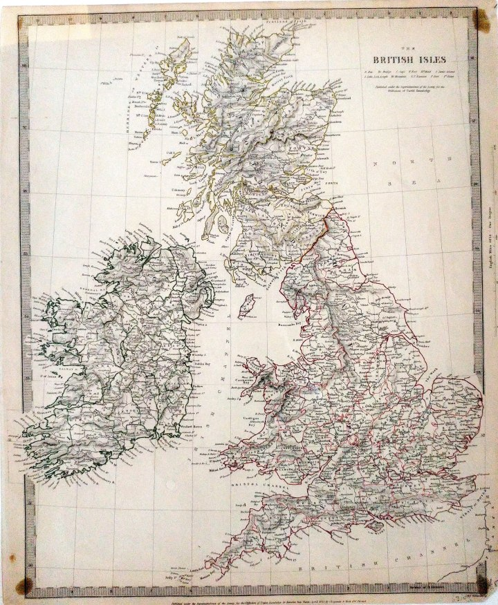 'The British Isles', Published by SDUK, 1842