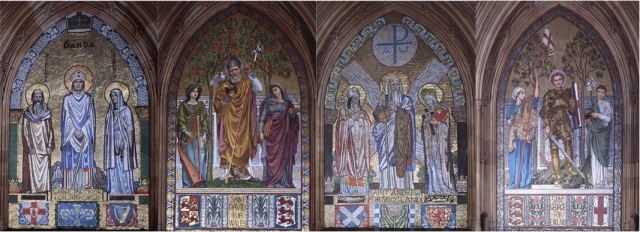 The patron saints of Ireland, Wales, Scotland and England, Palace of Westminster
