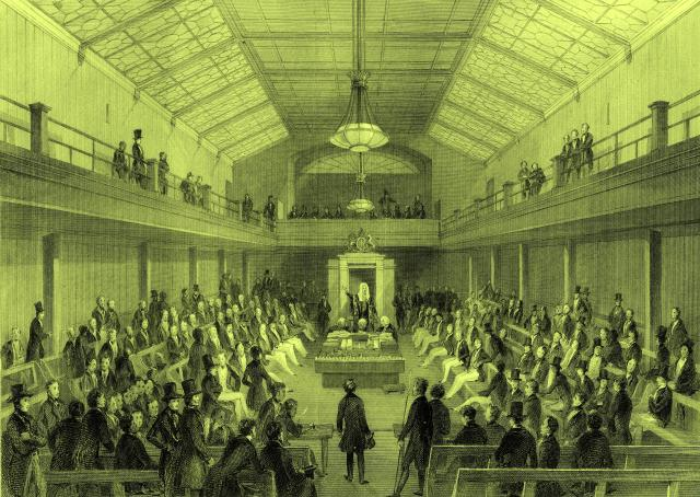 Debate in the House of Commons temporary chamber in 1835