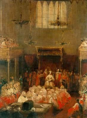 Hayter, George, 1792-1871; Queen Victoria Opening Parliament, 1837