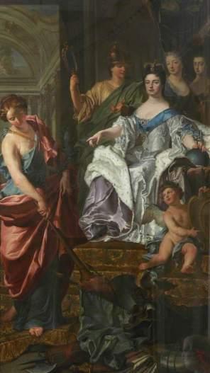 unknown artist; Allegorical Triumph with Queen Anne