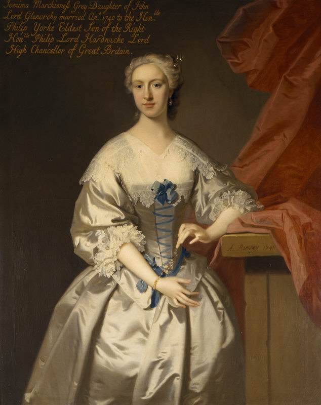 LADY JEMIMA CAMPBELL, MARCHIONESS GREY, COUNTESS OF HARDWICKE (c.1720-1797) by Allan Ramsay (1713-1794) at Wimpole Estate