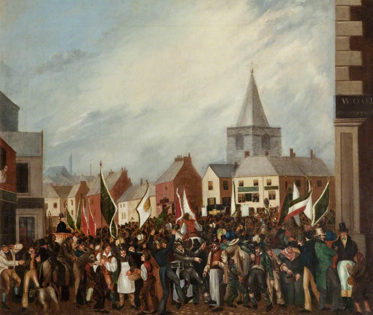 unknown artist; The 1832 Blackburn Election
