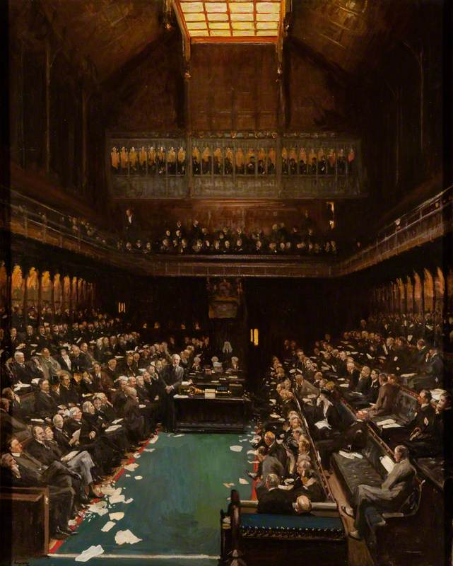Lavery, John, 1856-1941; The Right Honourable J. Ramsay Macdonald Addressing the House of Commons