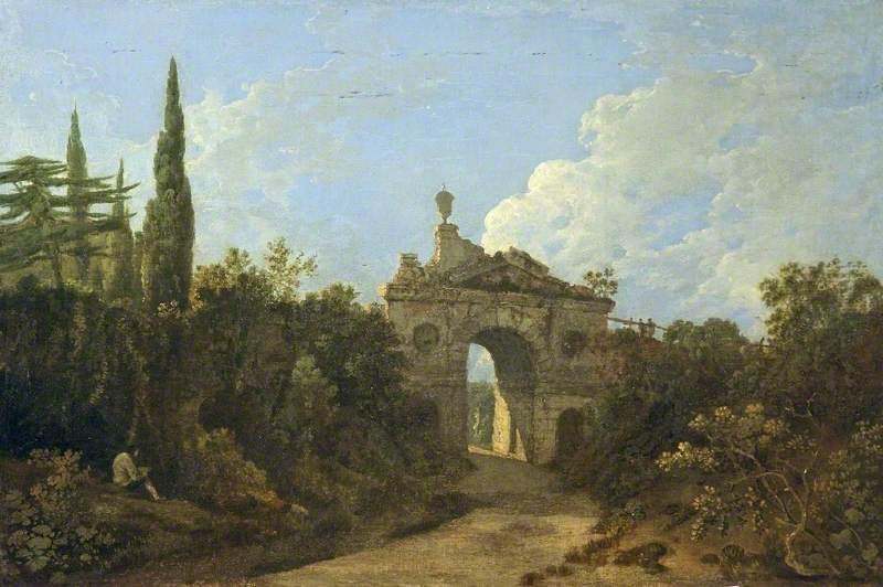Wilson, Richard, 1713/1714-1782; Kew Gardens, Surrey, Ruined Arch