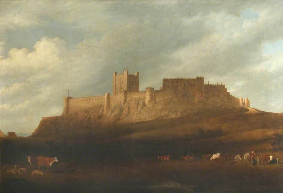 de Wint, Peter, 1784-1849; Bamburgh Castle